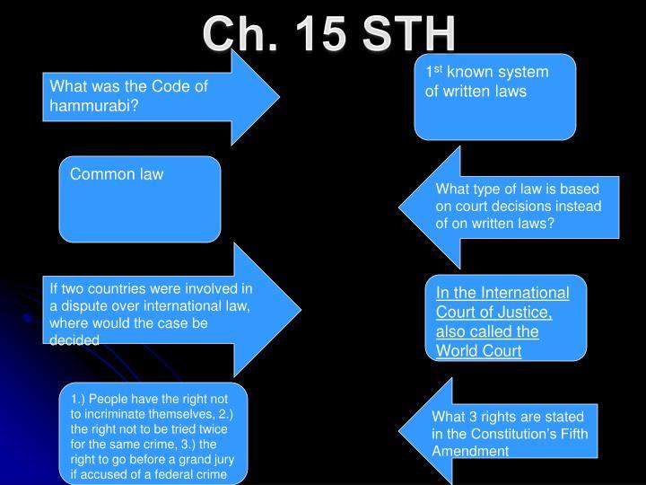 Ch. 15 STH