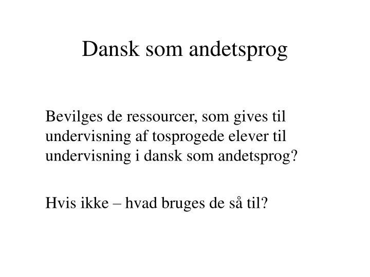Dansk som andetsprog