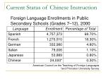 current status of chinese instruction1