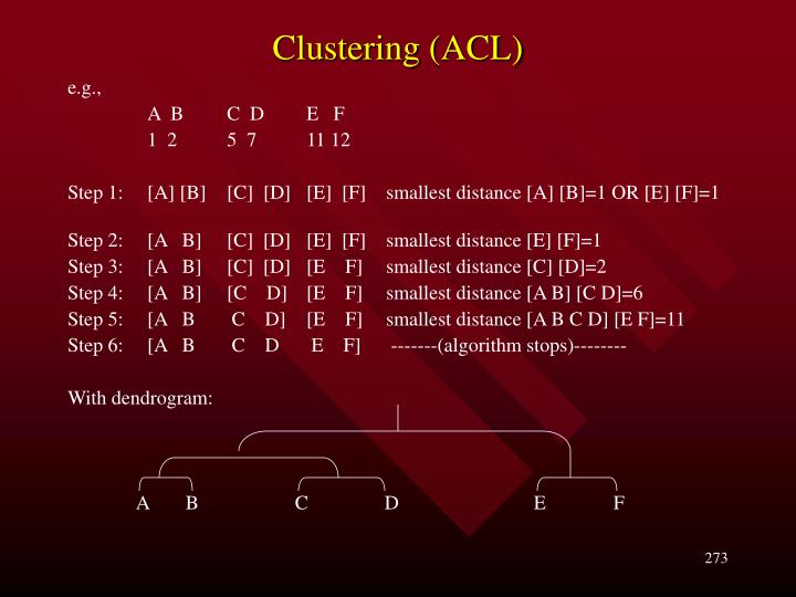 Clustering (ACL)