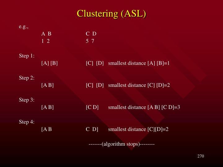 Clustering (ASL)