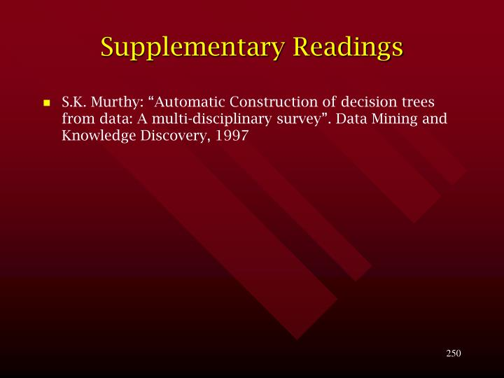 Supplementary Readings