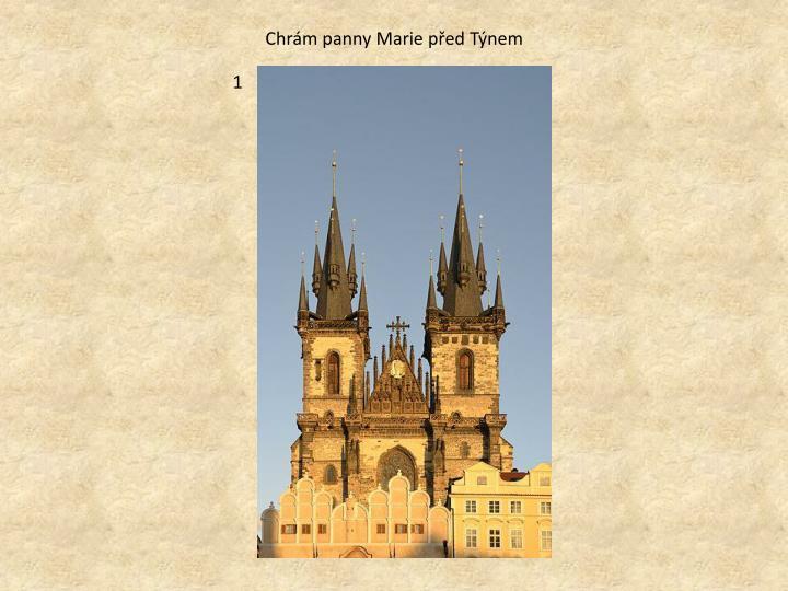 Chrám panny Marie před Týnem