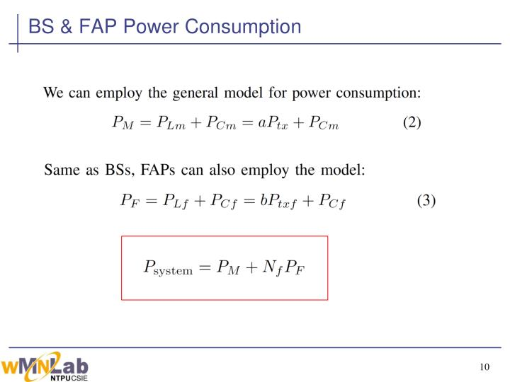 BS & FAP Power Consumption