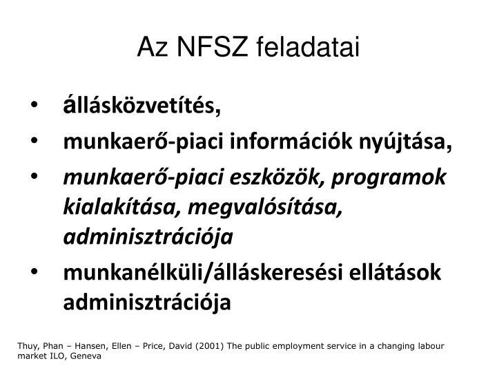 Az NFSZ feladatai
