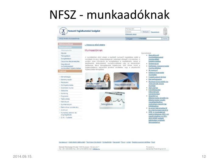 NFSZ - munkaadóknak