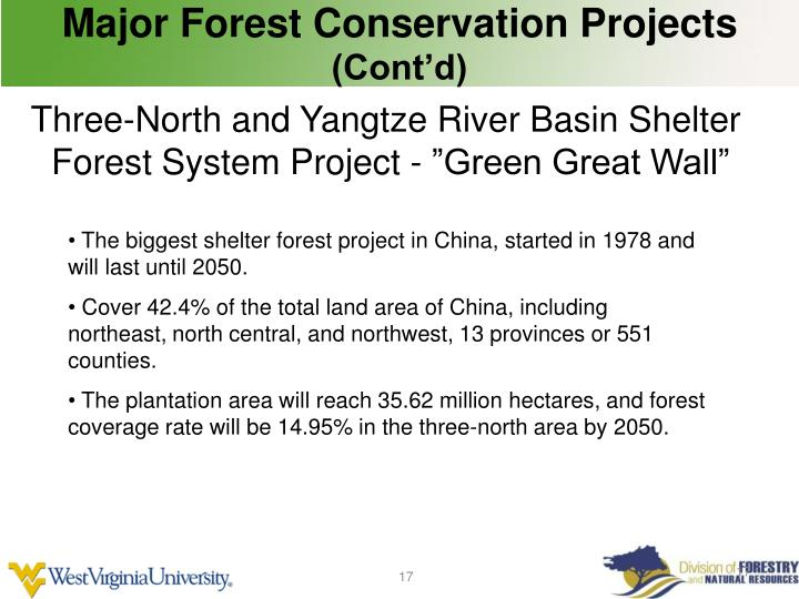 Major Forest Conservation Projects