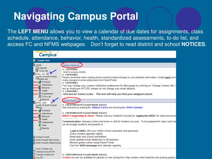 Navigating Campus Portal