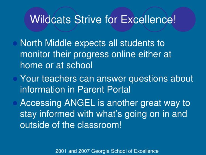Wildcats Strive for Excellence!