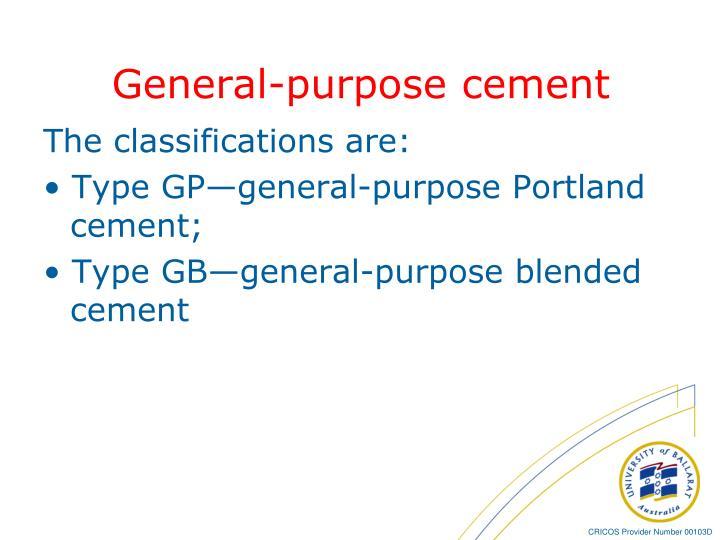 General-purpose cement
