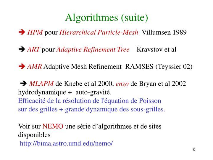 Algorithmes (suite)