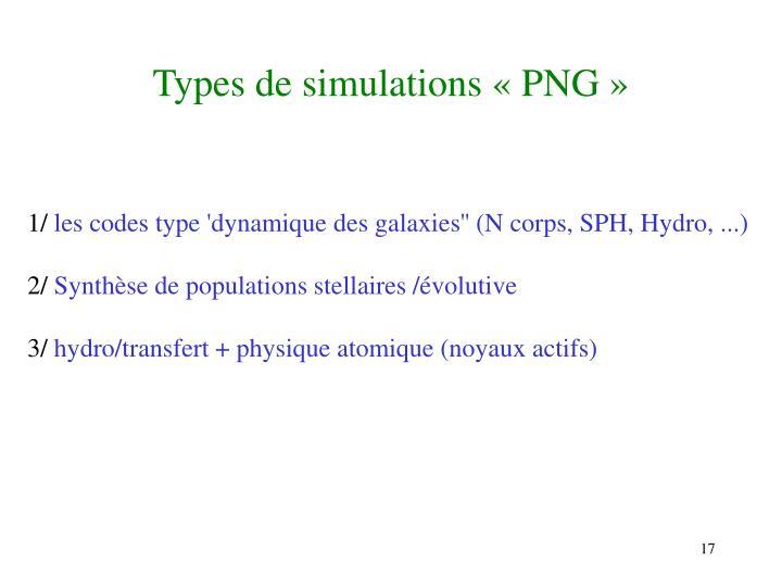 Types de simulations « PNG »