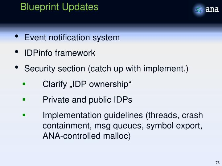 Blueprint Updates
