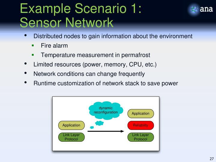 Example Scenario 1: