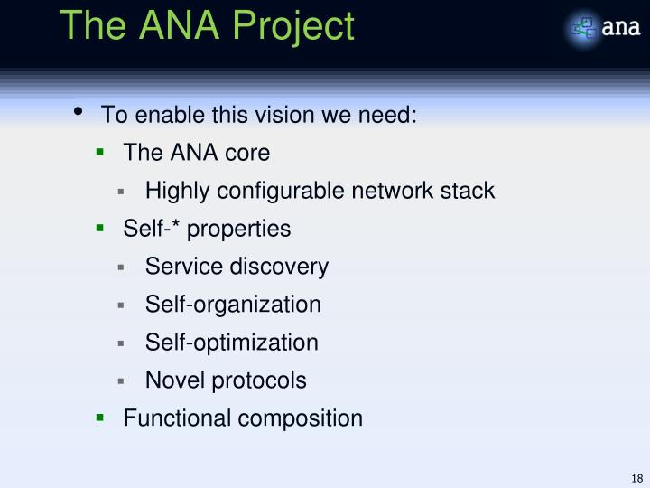 The ANA Project