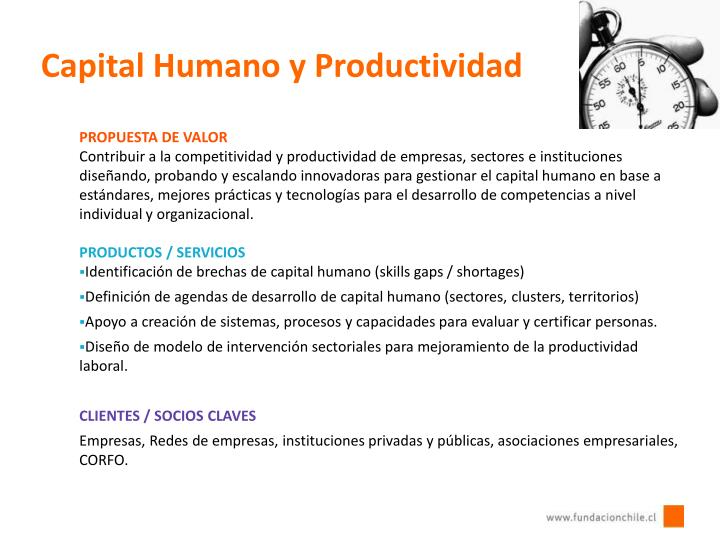 Capital Humano y Productividad