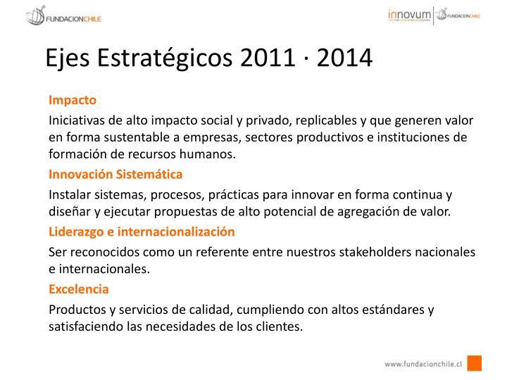 Ejes Estratégicos 2011 · 2014