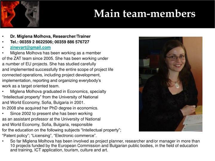 Main team-members