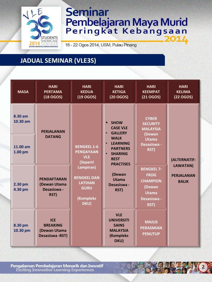 JADUAL SEMINAR (VLE3S)