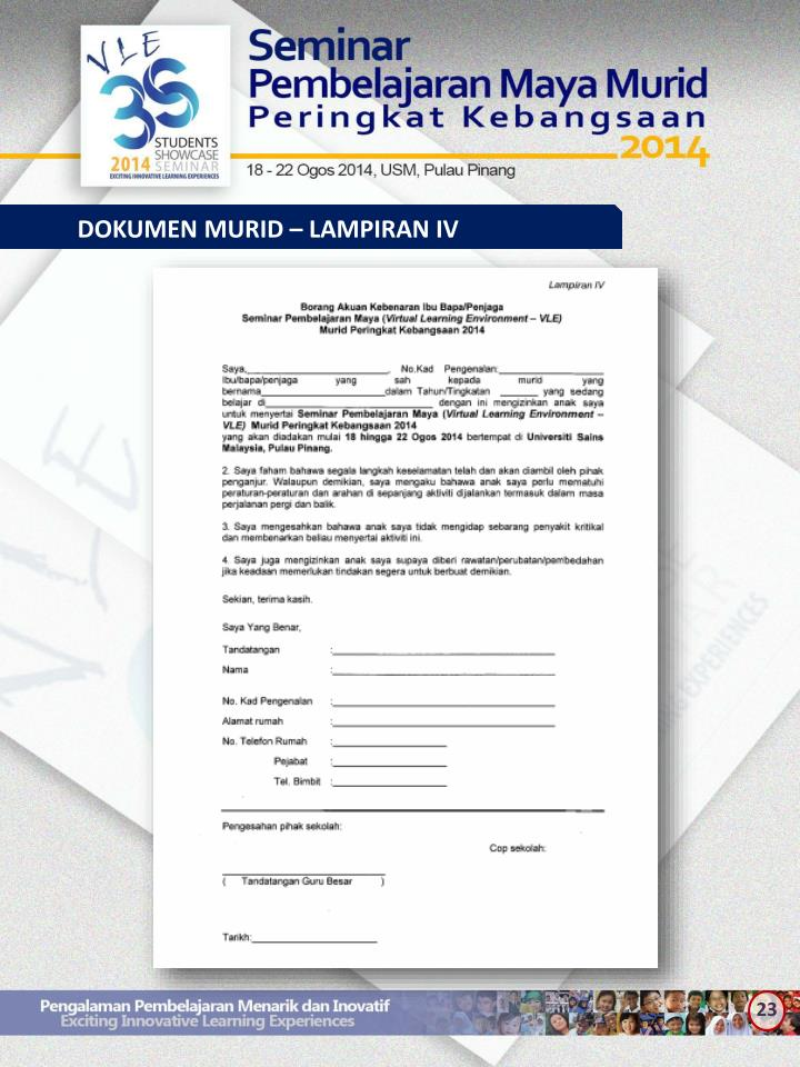 DOKUMEN MURID – LAMPIRAN IV