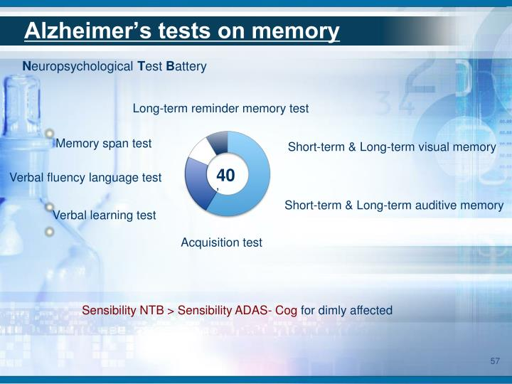Alzheimer's tests on memory