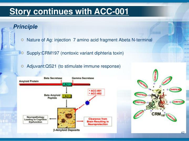 Story continues with ACC-001