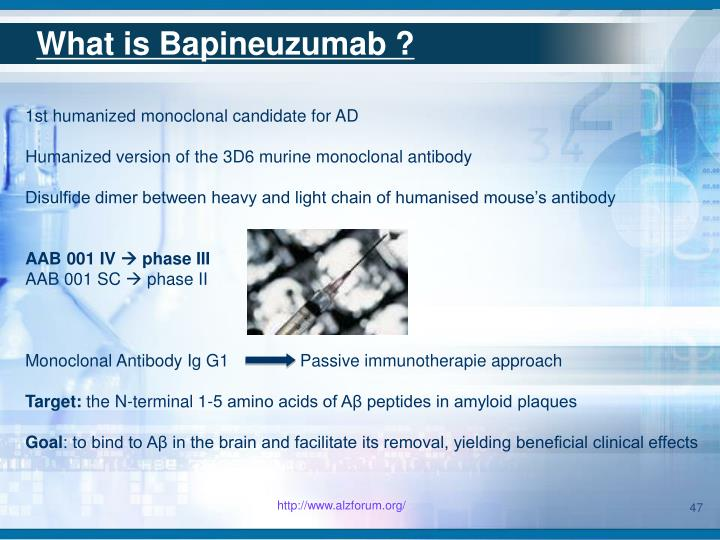 What is Bapineuzumab ?
