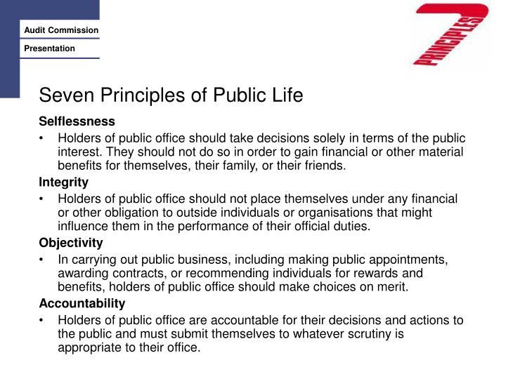 Seven Principles of Public Life