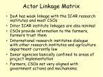 actor linkage matrix