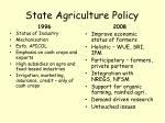state agriculture policy