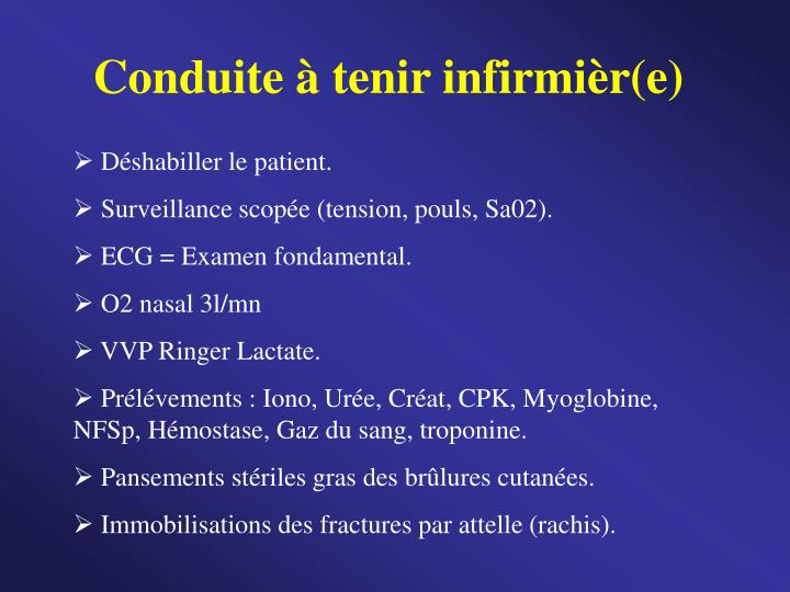 Conduite à tenir infirmièr(e)