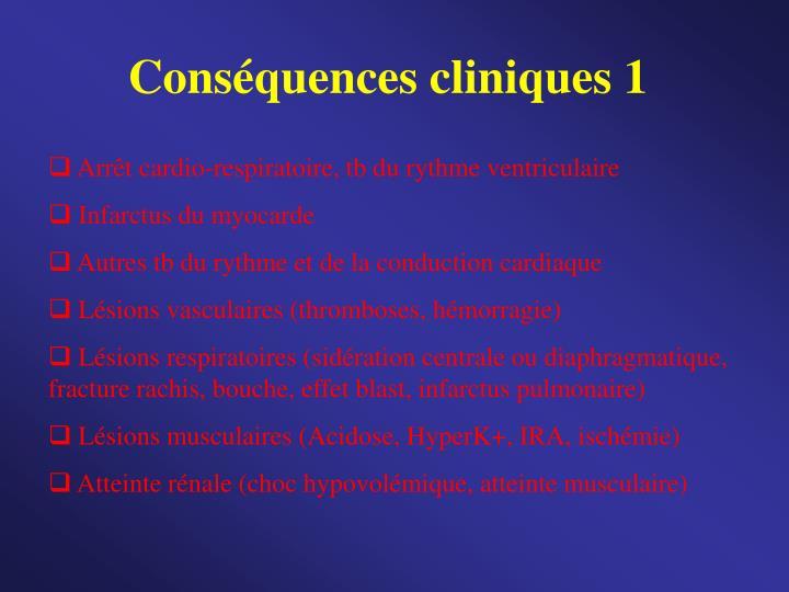 Conséquences cliniques 1