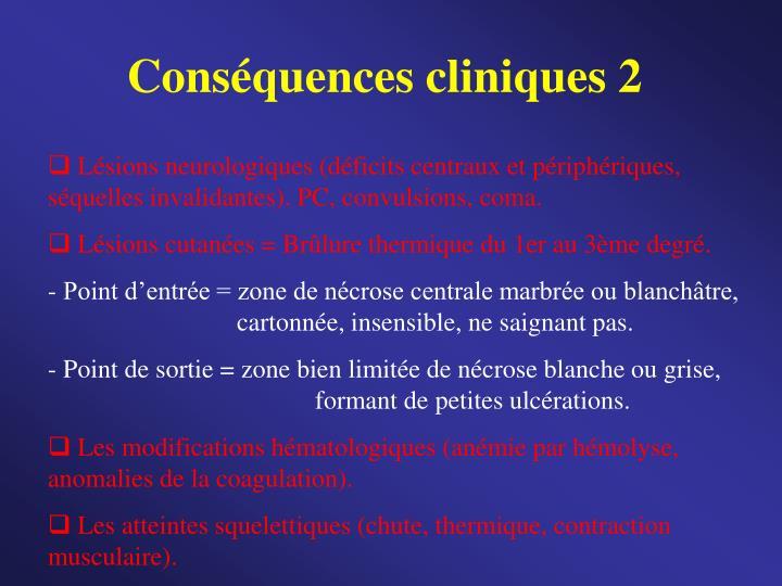 Conséquences cliniques 2