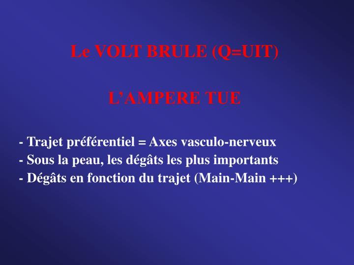 Le VOLT BRULE (Q=UIT)