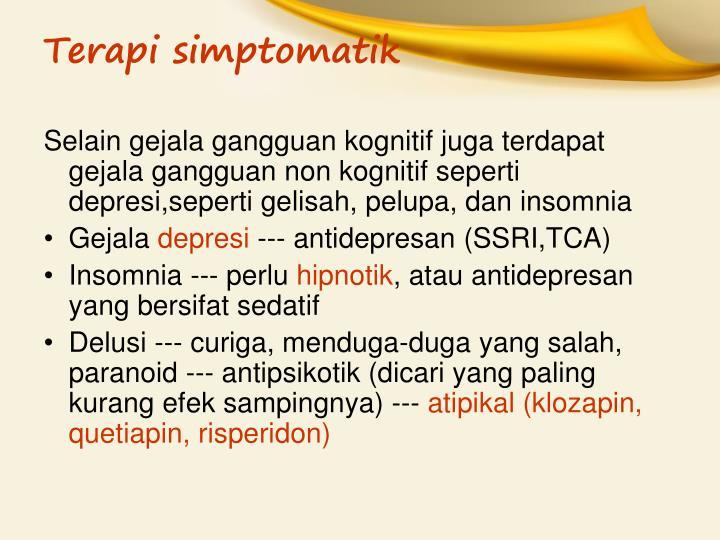 Terapi simptomatik