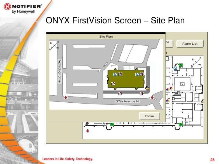 ONYX FirstVision Screen – Site Plan