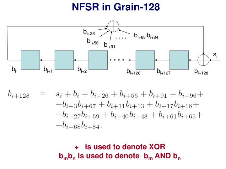 NFSR in Grain-128