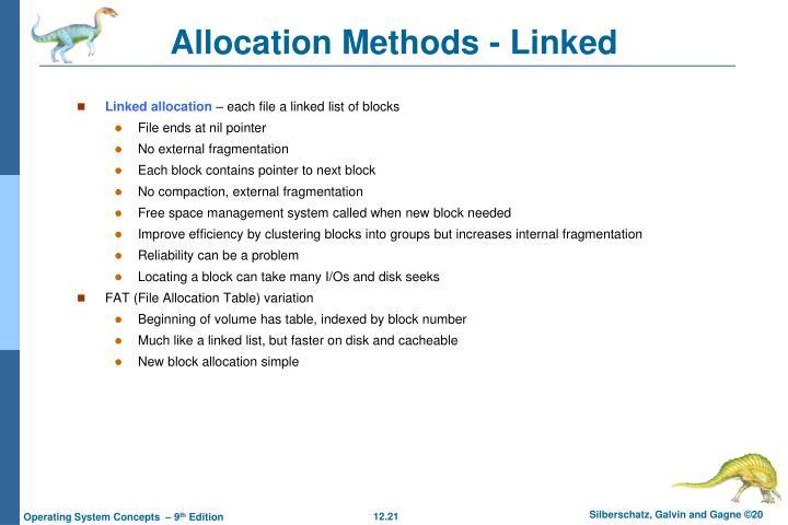 Allocation Methods - Linked