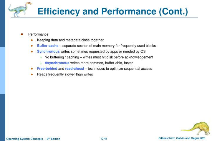 Efficiency and Performance (Cont.)