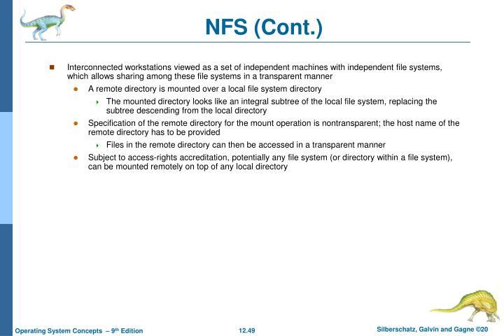 NFS (Cont.)