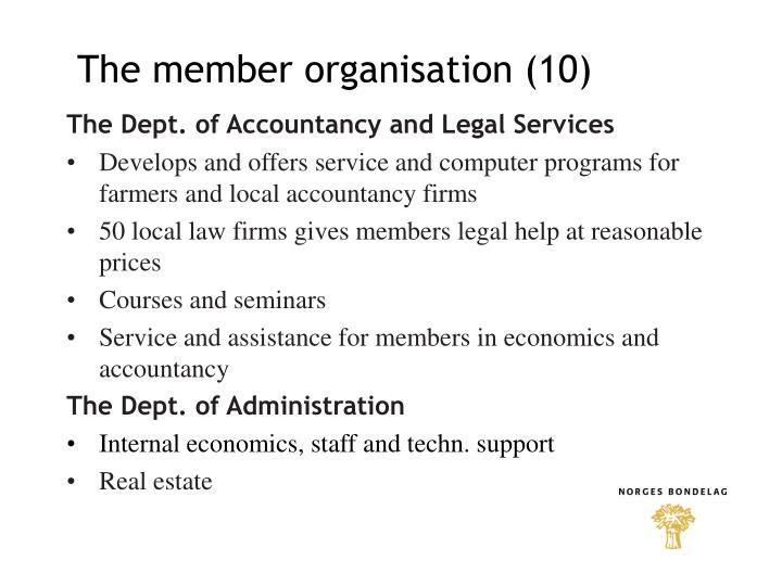 The member organisation (10)