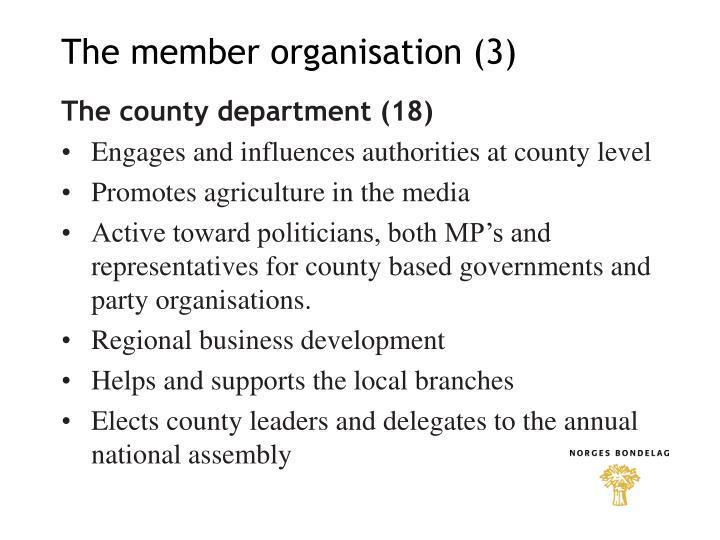 The member organisation (3)