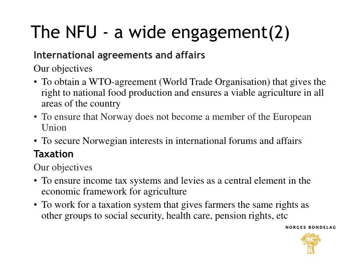 The NFU - a wide engagement(2)