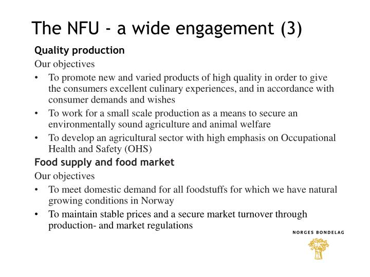 The NFU - a wide engagement (3)