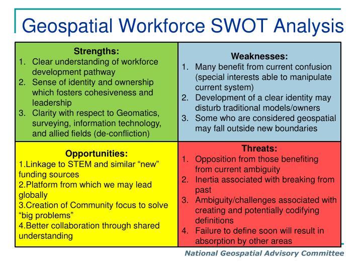 Geospatial Workforce SWOT Analysis