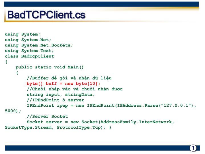 BadTCPClient.cs