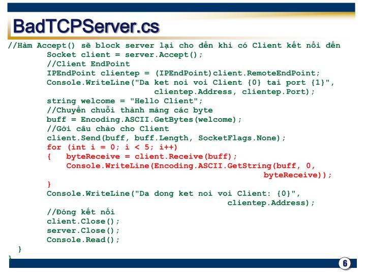 BadTCPServer.cs