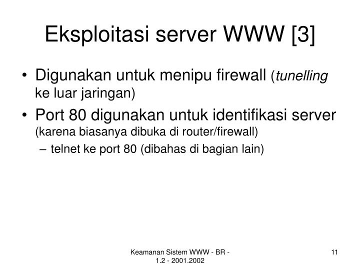 Eksploitasi server WWW [3]