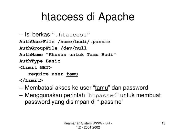 htaccess di Apache