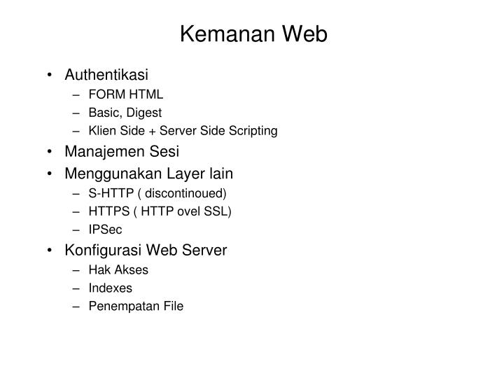 Kemanan Web